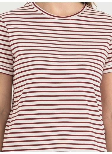 Loft Çizgili Tişört Kırmızı